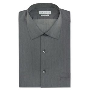 Classic Fit Herringbone Dress Shirt 17.5 34 / 35
